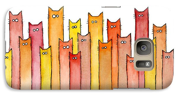 Cats Autumn Colors Galaxy Case by Olga Shvartsur