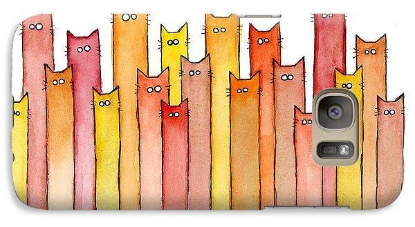 Cat Galaxy S7 Case - Cats Autumn Colors by Olga Shvartsur