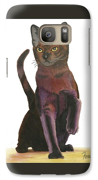Galaxy Case featuring the painting Cats Meow by Ferrel Cordle