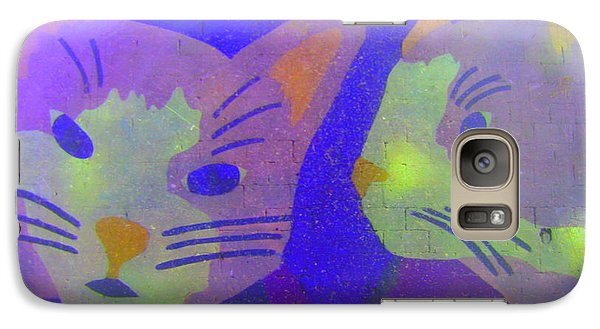 Galaxy Case featuring the photograph Cats On A Wall by John King