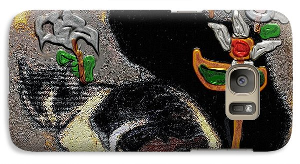 Galaxy Case featuring the mixed media Cats by Pemaro