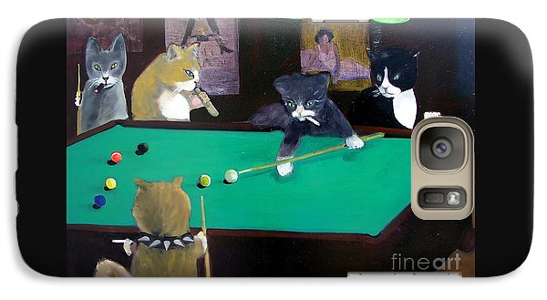 Cats Playing Pool Galaxy S7 Case