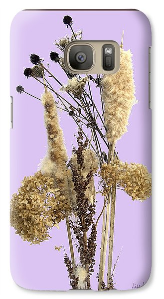 Galaxy Case featuring the digital art Cattails And November Flowers by Lise Winne