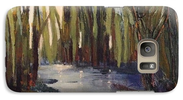 Galaxy Case featuring the painting Cattails by Helen Harris