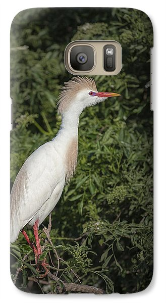 Galaxy Case featuring the photograph Cattle Egret by Tyson and Kathy Smith