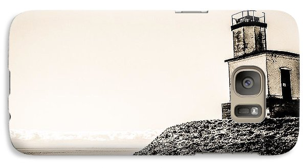 Galaxy Case featuring the photograph Cattle Point Lighthouse by William Wyckoff