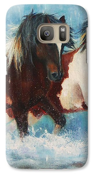 Galaxy Case featuring the painting Caught In The Rain  Close Up by Karen Kennedy Chatham