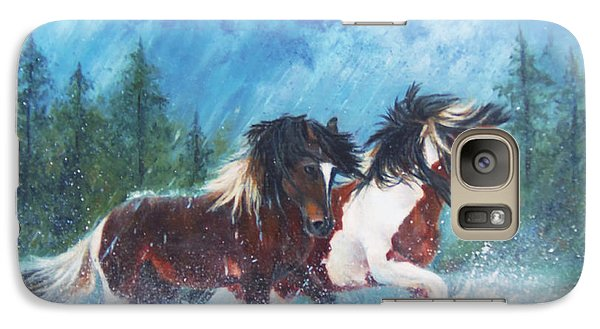 Galaxy Case featuring the painting Caught In The Rain  by Karen Kennedy Chatham