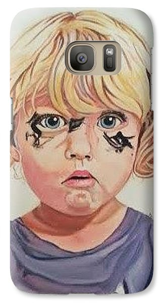 Galaxy Case featuring the painting Caught With A Makeup-mess-mila by Kevin F Heuman