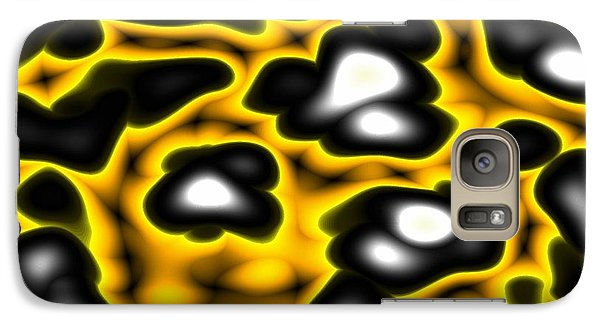 Galaxy Case featuring the digital art Caution by Jeff Iverson