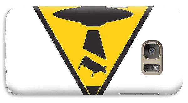 Caution Ufos Galaxy Case by Pixel Chimp