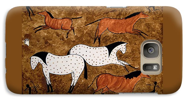 Galaxy Case featuring the painting Cave Horses by Stephanie Moore