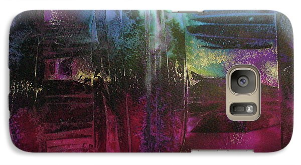 Galaxy Case featuring the painting Cave Of Dreams by Mary Sullivan