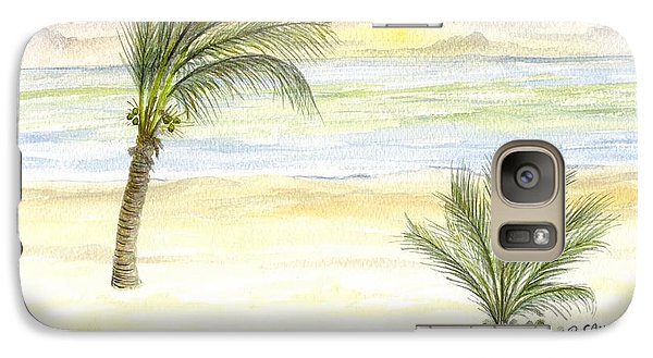Galaxy Case featuring the digital art Cayman Beach by Darren Cannell