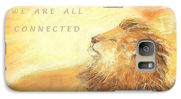 Galaxy Case featuring the drawing Cecil The Lion by Denise Fulmer