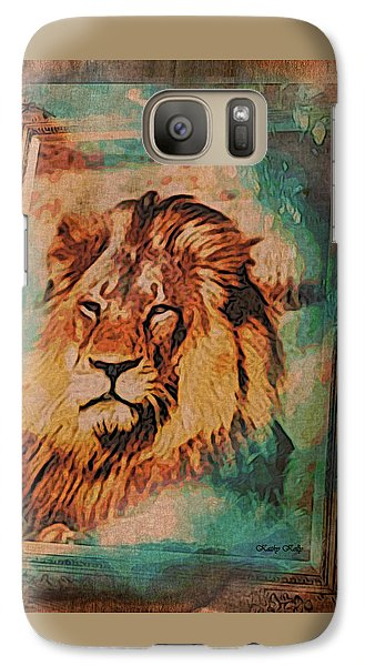 Galaxy Case featuring the digital art Cecil The Lion by Kathy Kelly