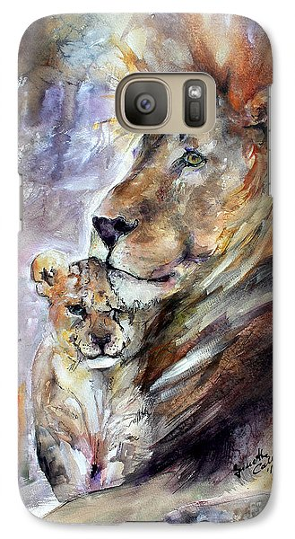 Galaxy Case featuring the painting Cecil The Patriarch No More by Ginette Callaway