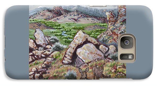 Galaxy Case featuring the painting Cedar Breaks View With Mule Deer by Dawn Senior-Trask