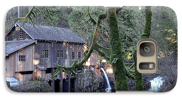 Galaxy Case featuring the photograph Cedar Creek Grist Mill by Larry Keahey