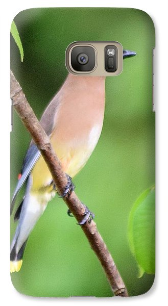 Cedar Wax Wing Profile Galaxy Case by Sheri McLeroy