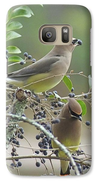 Cedar Wax Wings Galaxy Case by Lizi Beard-Ward