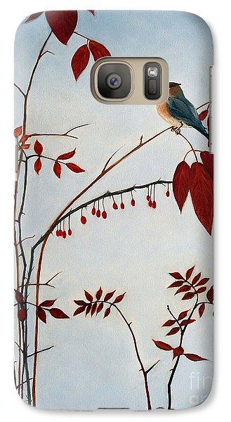 Cedar Waxwing Galaxy S7 Case by Laura Tasheiko