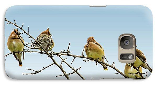 Cedar Waxwings Galaxy S7 Case by Geraldine Scull