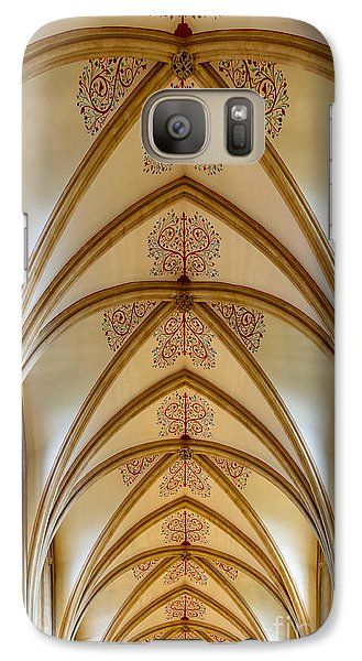 Galaxy Case featuring the photograph Ceiling, Wells Cathedral. by Colin Rayner