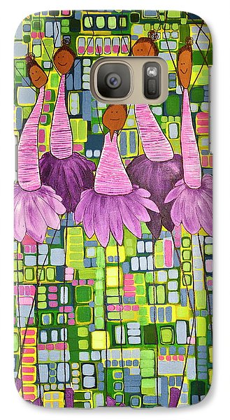 Galaxy Case featuring the painting Celebrate by Donna Howard