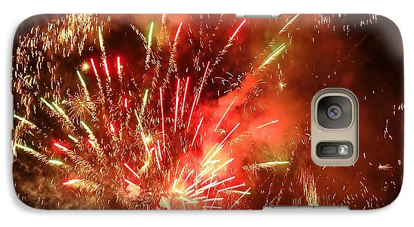 Galaxy Case featuring the photograph Celebratory Fireworks And Firecrackers Light Up The Sky by Yali Shi
