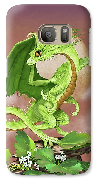 Galaxy Case featuring the digital art Celery Dragon by Stanley Morrison