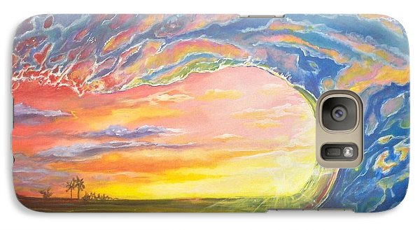 Galaxy Case featuring the painting Celestial Break by Dawn Harrell