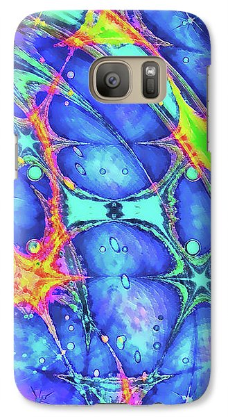 Galaxy Case featuring the digital art Celestial Burst by Wendy J St Christopher