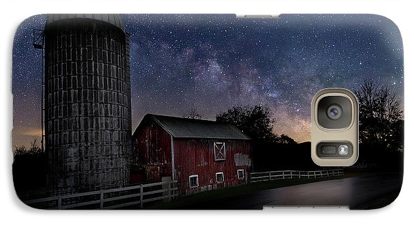 Galaxy Case featuring the photograph Celestial Farm by Bill Wakeley