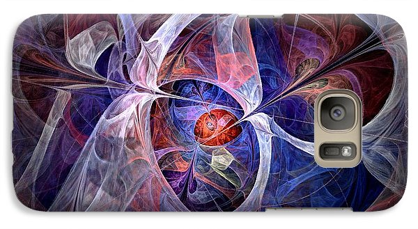 Galaxy Case featuring the digital art Celestial North - Fractal Art by NirvanaBlues