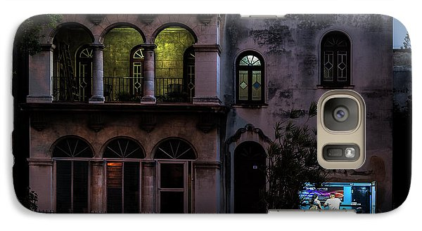 Galaxy Case featuring the photograph Cell Phone Shop Havana Cuba by Charles Harden