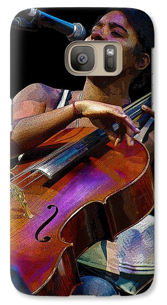 Galaxy Case featuring the digital art Cellist by Jim Mathis