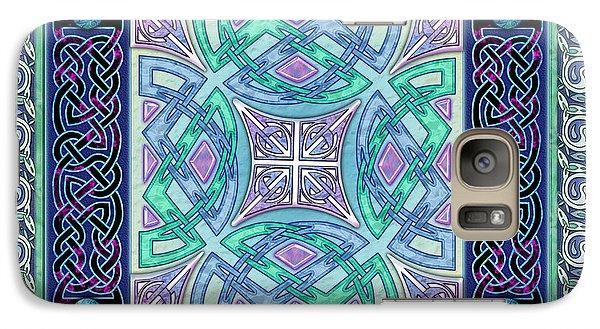 Galaxy Case featuring the mixed media Celtic Atlantis Opal by Kristen Fox