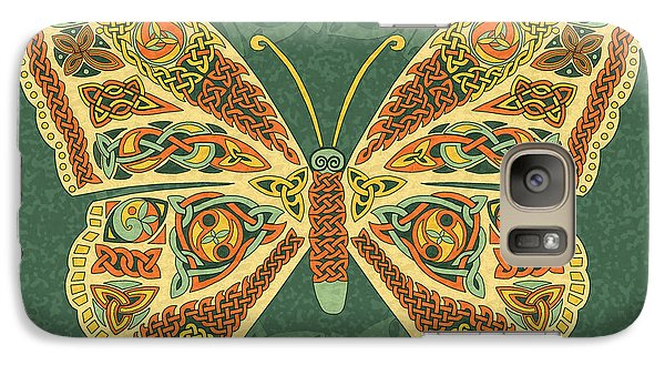 Galaxy Case featuring the mixed media Celtic Butterfly by Kristen Fox