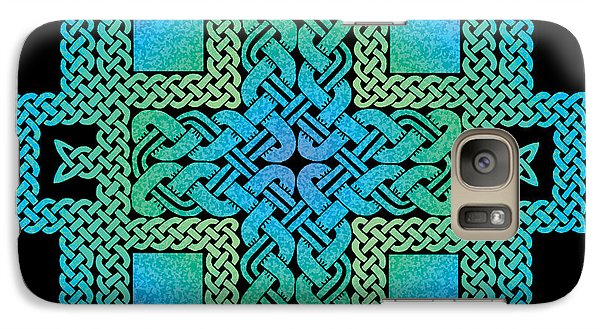 Galaxy Case featuring the mixed media Celtic Castle by Kristen Fox