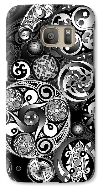 Galaxy Case featuring the mixed media Celtic Clockwork by Kristen Fox