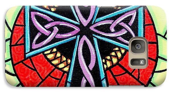 Galaxy Case featuring the painting Celtic Cross by Jim Harris