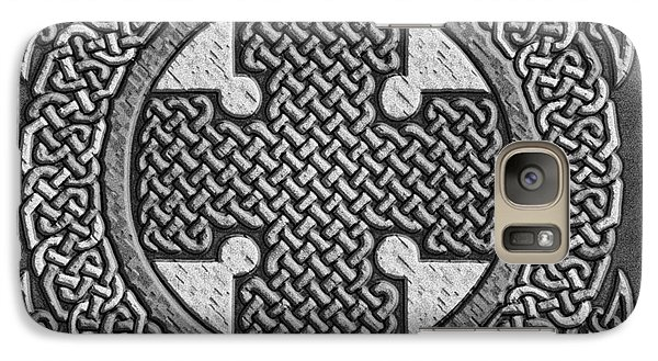 Galaxy Case featuring the mixed media Celtic Cross by Kristen Fox