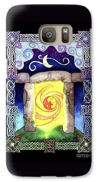 Galaxy Case featuring the painting Celtic Doorway by Kristen Fox