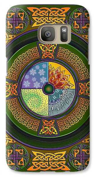 Galaxy Case featuring the mixed media Celtic Elements by Kristen Fox