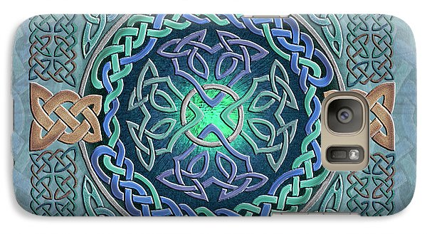 Galaxy Case featuring the mixed media Celtic Eye Of The World by Kristen Fox