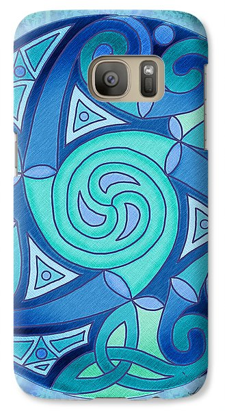 Galaxy Case featuring the mixed media Celtic Planet by Kristen Fox