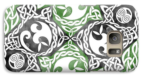 Galaxy Case featuring the photograph Celtic Puzzle Square by Kristen Fox