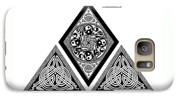 Galaxy Case featuring the mixed media Celtic Pyramid by Kristen Fox