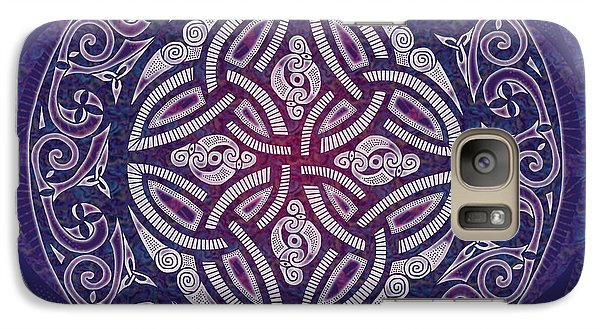 Galaxy Case featuring the mixed media Celtic Shield by Kristen Fox